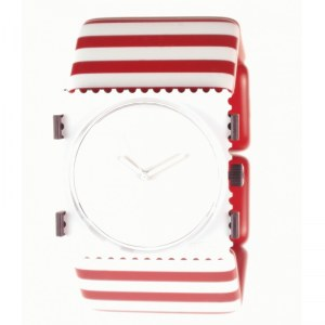 S.T.A.M.P.S. - Armband ''belta'' Stripes Red & White