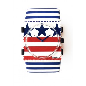 S.T.A.M.P.S. - Armband ''Belta'' Stripes Blue & White
