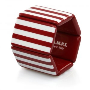 S.T.A.M.P.S. - Armband Belta Stripes Red & White